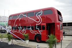 Red Bull double decker bus
