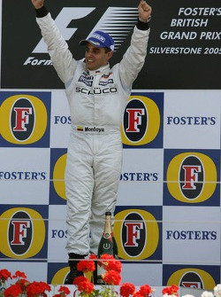 Podium: race winner Juan Pablo Montoya