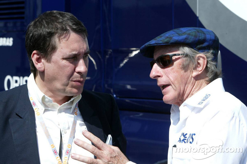 Jools Holland y Sir Jackie Stewart