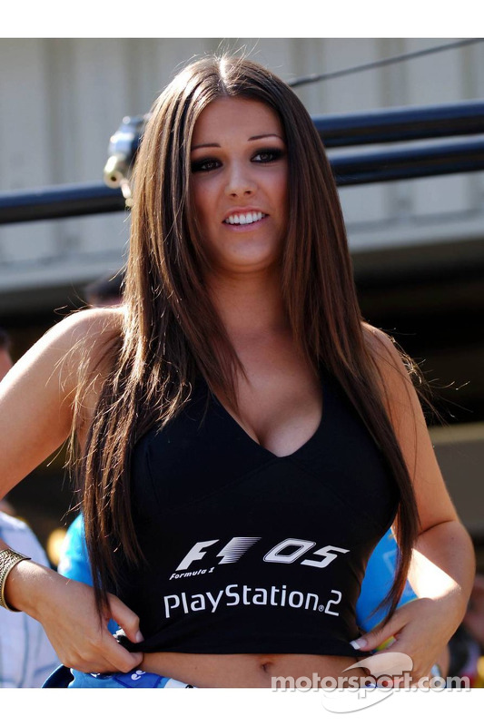 Playstation girl Lucy Pinder at British GP