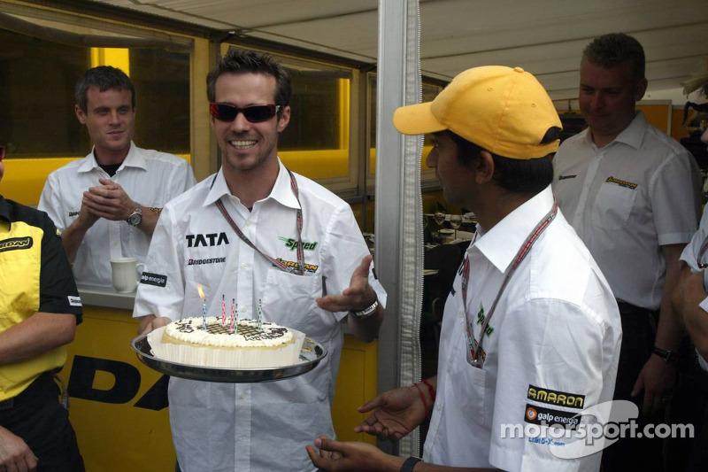 Tiago Monteiro celebrates his birthday with Narain Karthikeyan at ... 37fec4da8a0c