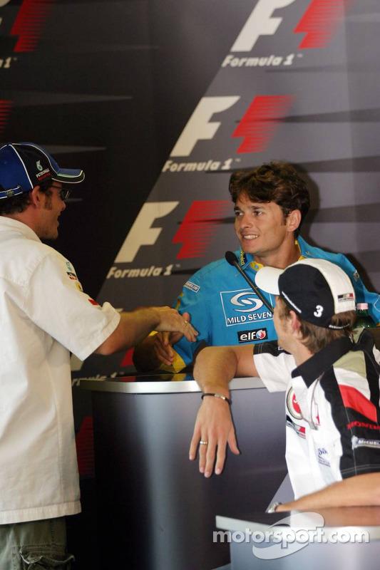 Conferencia de prensa FIA: Giancarlo Fisichella, Jacques Villeneuve y Jenson Button