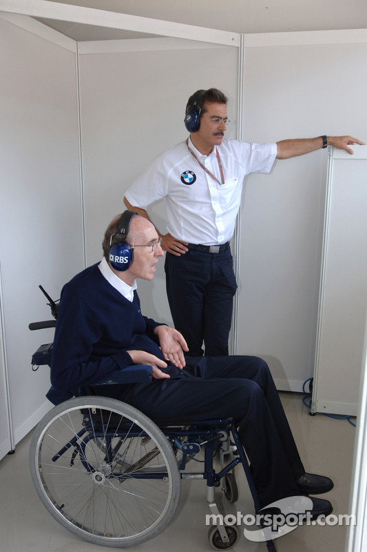 Frank Williams y Dr Mario Theissen