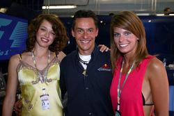 A happy Red Bull Racing team member