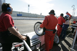 Multimatic Motorsports crew members ready for pitstop