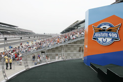 Podium for the Allstate 400 at the Brickyard