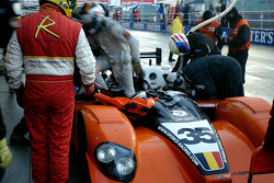 Pitstop for the #35 G-Force Courage C65 - Judd: Jean-François Leroch, Tim Greaves, Frank Hahn