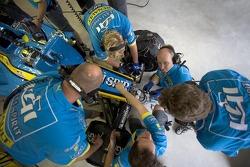 Renault F1 team members at work
