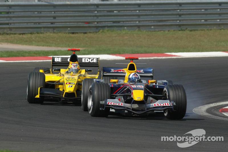 David Coulthard et Tiago Monteiro