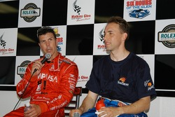 Scott Pruett and Max Angelelli at qualifying press conference