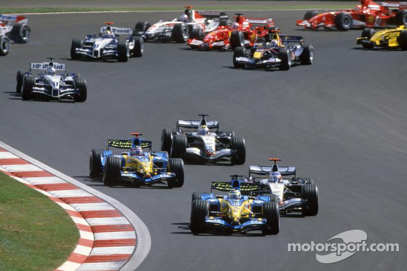 Start: Giancarlo Fisichella liderliği Fernando Alonso ve Kimi Raikkonen'den geri alıyor