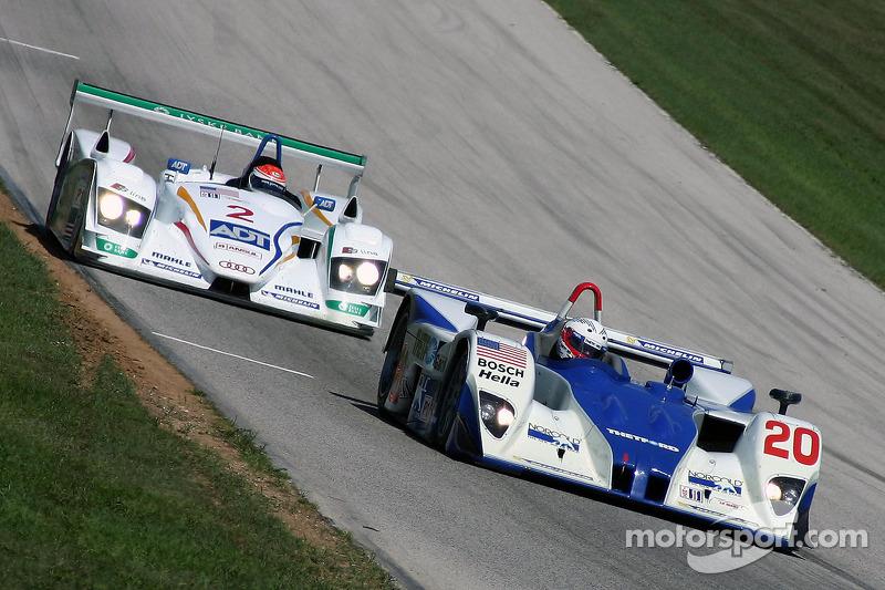 Dyson Racing Team Lola EX257 AER : Chris Dyson, Andy Wallace; Champion Racing Audi R8 : Frank Biela