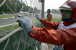 Course marshals at work