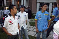 Takuma Sato, Nick Heidfeld and Giancarlo Fisichella