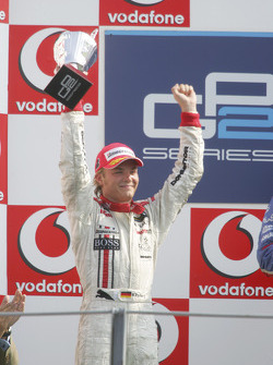 Podium: second place for Nico Rosberg