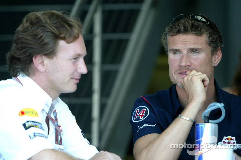 Christian Horner y David Coulthard