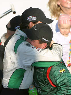 Race winner and 2005 champion Klaus Graf celebrates with Tomy Drissi