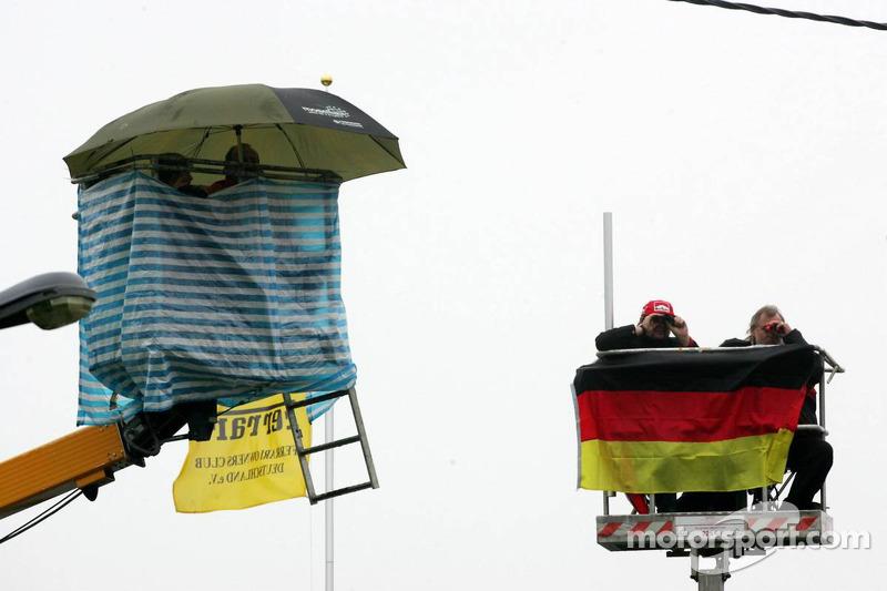 Fans en lugares altos