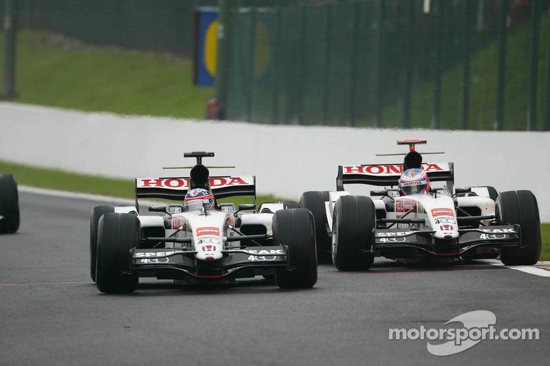 Takuma Sato y Jenson Button