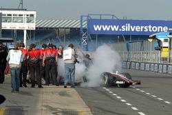 Problems on pitlane for Pedro de la Rosa