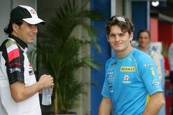 Enrique Bernoldi and Giancarlo Fisichella