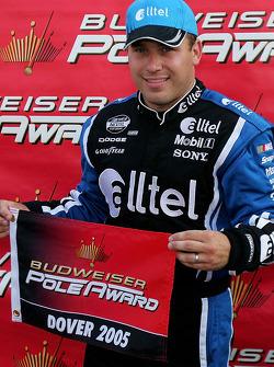 Pole winner Ryan Newman celebrates