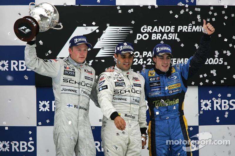 Com o terceiro lugar em Interlagos, Alonso se tornava campeão com duas corridas de antecedência.