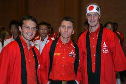 Mitsubishi media event: Gianluigi Galli, Gilles Panizzi and Harri Rovanpera