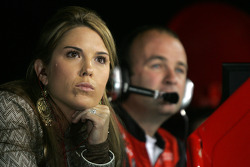 Shana Mayfield watches husband Jeremy races