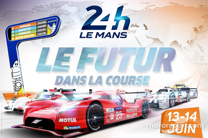 Das Poster zu den 24 Stunden von Le Mans 2015