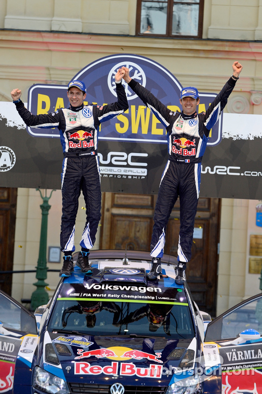 Primeira posição para Sebastien Ogier e Julien Ingrassia, Volkswagen Polo WRC, Volkswagen Motorsport