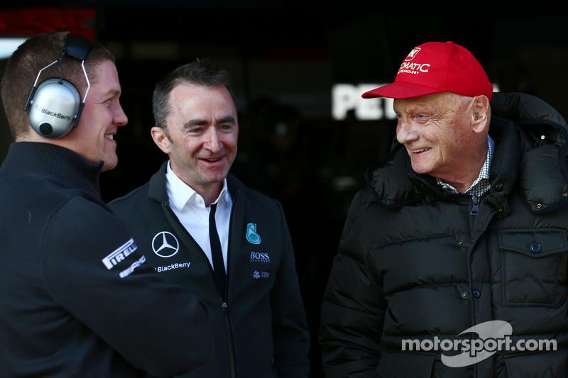 Падді Лоу, Mercedes AMG F1 Виконавчий директор, та Нікі Лауда, Невиконавчий голова Mercedes