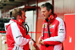 (L to R): Dave Greenwood, Ferrari Race Engineer with James Allison, Ferrari Chassis Technical Director