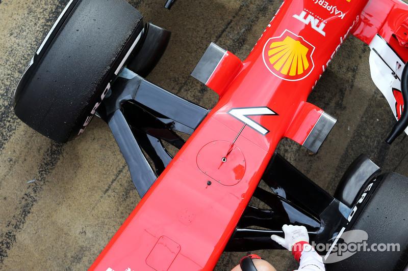 Ferrari SF15-T, Detail der vorderen Aufhängung