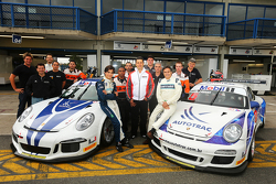Nelson Piquet, dan anaknya berusia 16 tahun Pedro Piquet, tes Porsche 911 GT3 Cup Brazil series