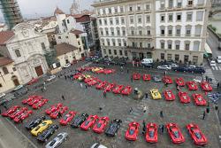 Ferrari Enzo cars about to start the Maranello-Mugello drive