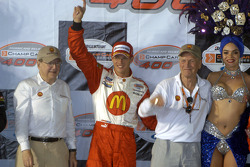 Podium: Carl Haas, Sébastien Bourdais and Paul Newman