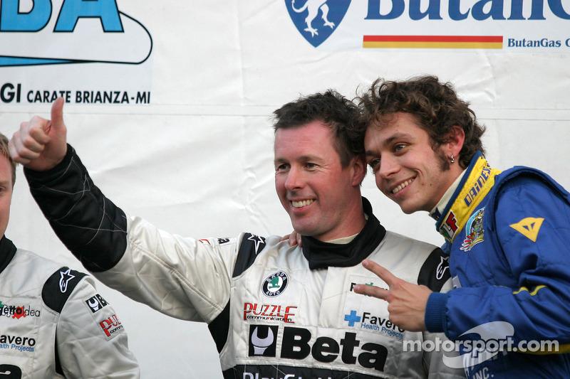 Valentino Rossi und Colin McRae bei der Monza Rally-Show