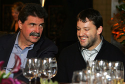 Tony Stewart and NASCAR President Mike Helton at the dinner on Sunday night at the Waldorf-Astoria