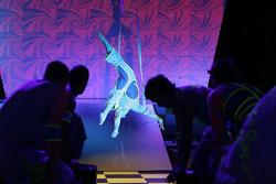 A performing acrobat