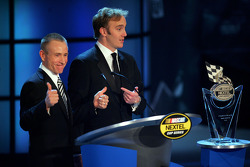 NASCAR Nextel Cup Awards Banquet at the Waldorf Astoria Hotel: comedian Jay Mohr with Mark Martin