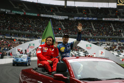Drivers presentation: Felipe Massa and Nelson A. Piquet