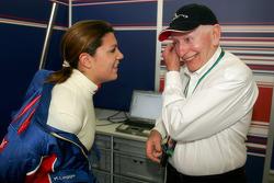 Katherine Legge and John Surtees