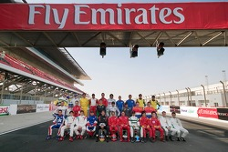 Photoshoot: family pictures for the A1GP drivers