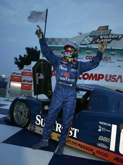 Victory lane: race winner Wayne Taylor celebrates