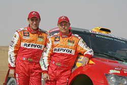 Team Repsol Mitsubishi Ralliart: Stéphane Peterhansel and Jean-Paul Cottret
