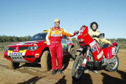 Mitsubishi Motors Repsol Team test in Vilovi D'Onyar: Nani Roma and Rosa Romero