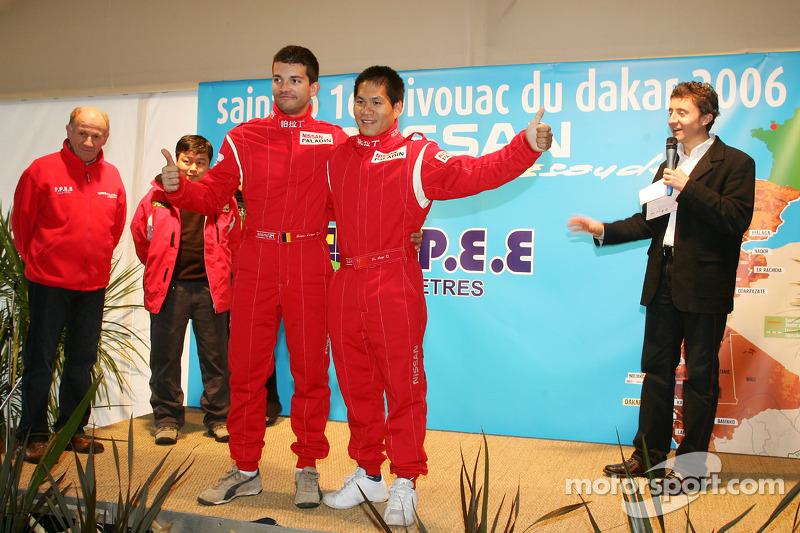 Présentation de l'équipe Nissan à Dessoude: Fabian Lurquin et Xu Lang