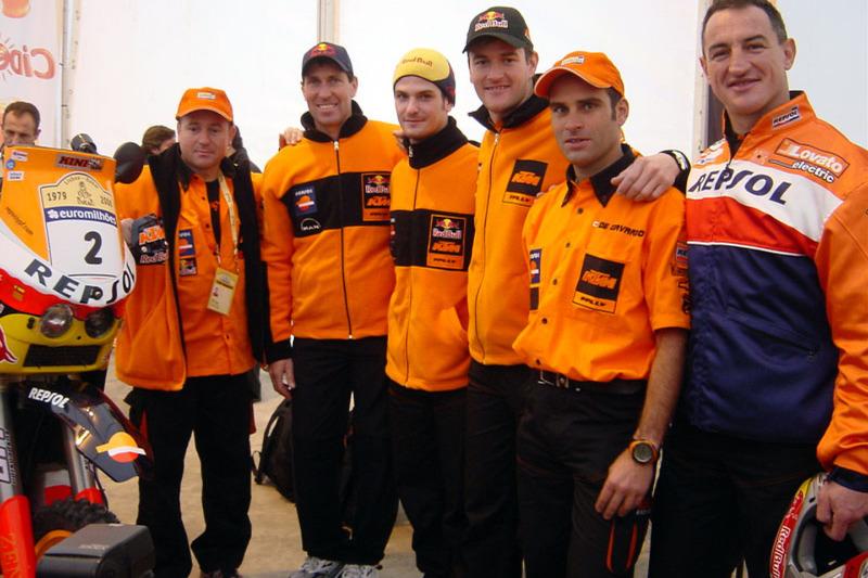 Jordi Arcarons, Andy Caldecott, Jordi Viladoms, Marc Coma, Carlo de Gavardo et Giovanni Sala
