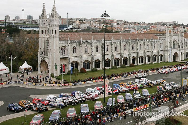 Vue d'ensemble du parc d'assistance à Lisbonne